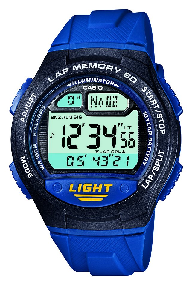 Casio - 60 Lap Memory Blue Strap - Watch