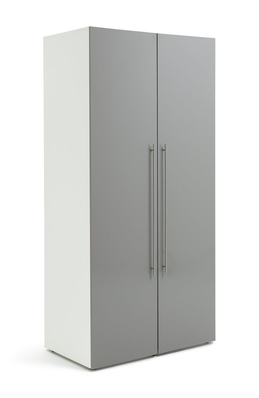 Argos Home Atlas 2 Door Wardrobe - Grey Gloss at Argos