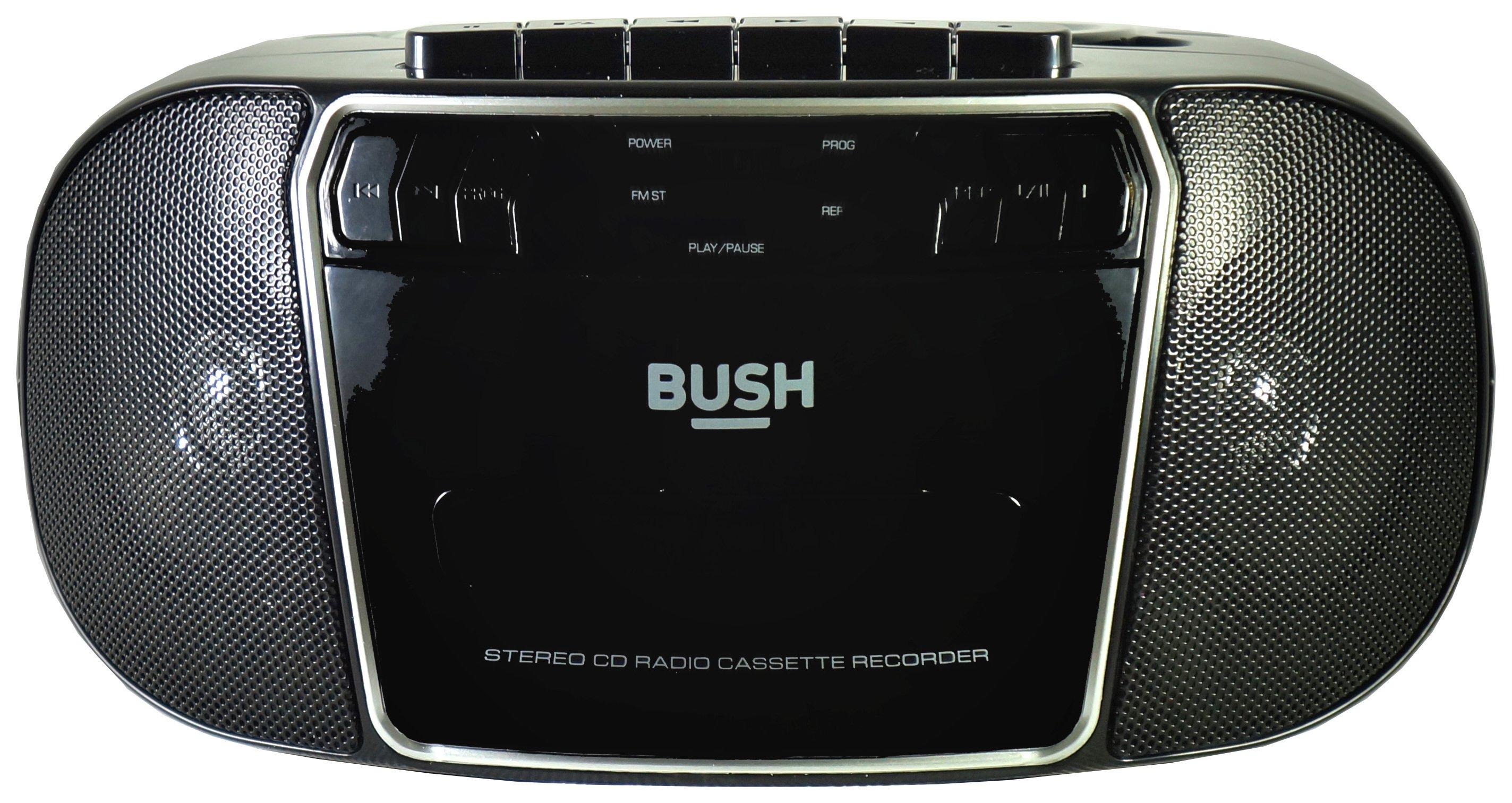 Bush  CD Radio Cassette Boombox - Black / Silver