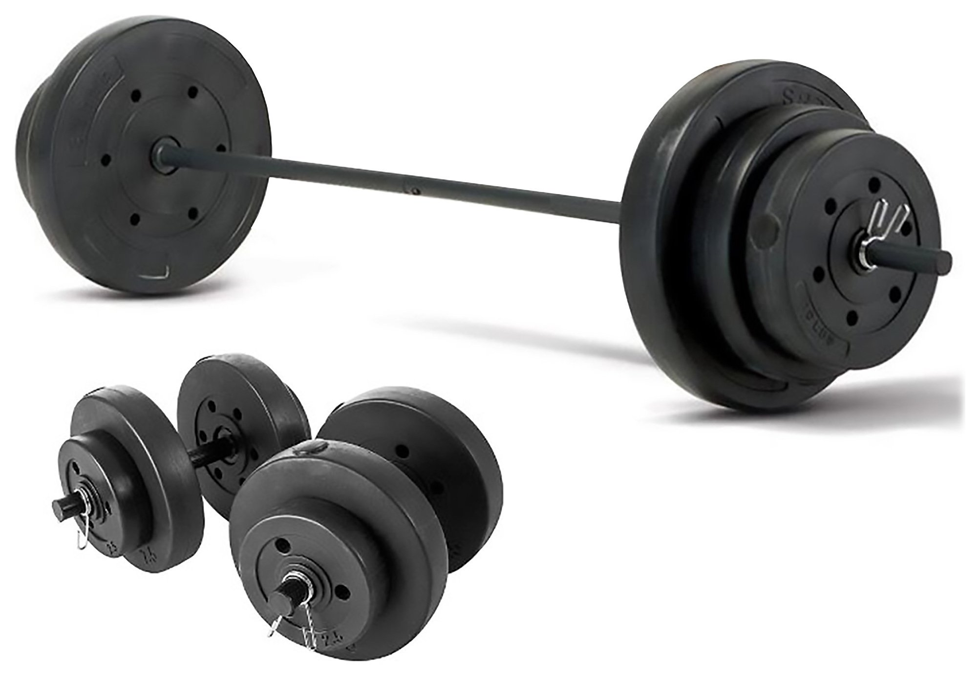 Marcy 50kg Barbell & Dumbbell Weight Set
