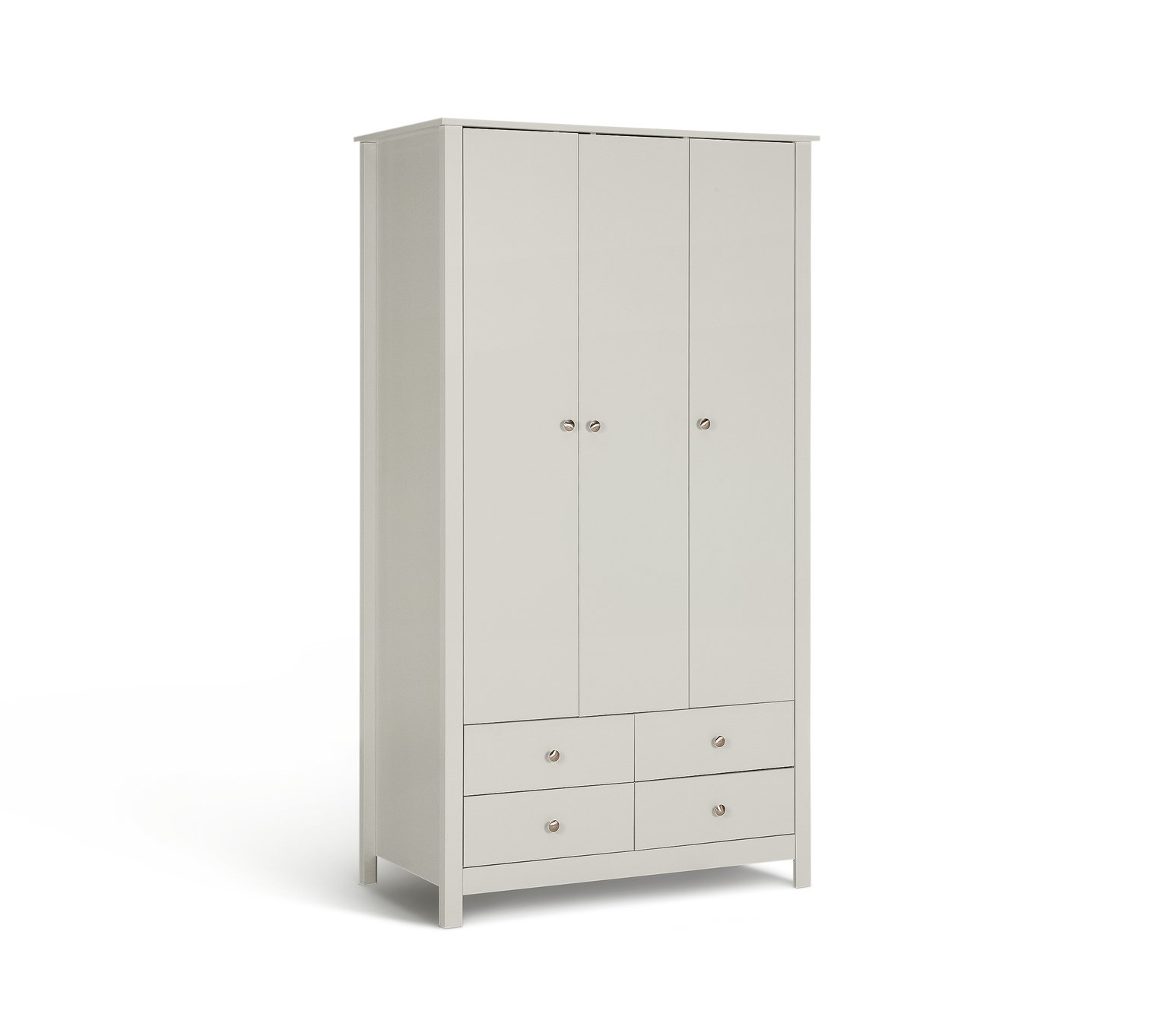 Argos Home Osaka 3 Door 4 Drawer Wardrobe - Soft Grey