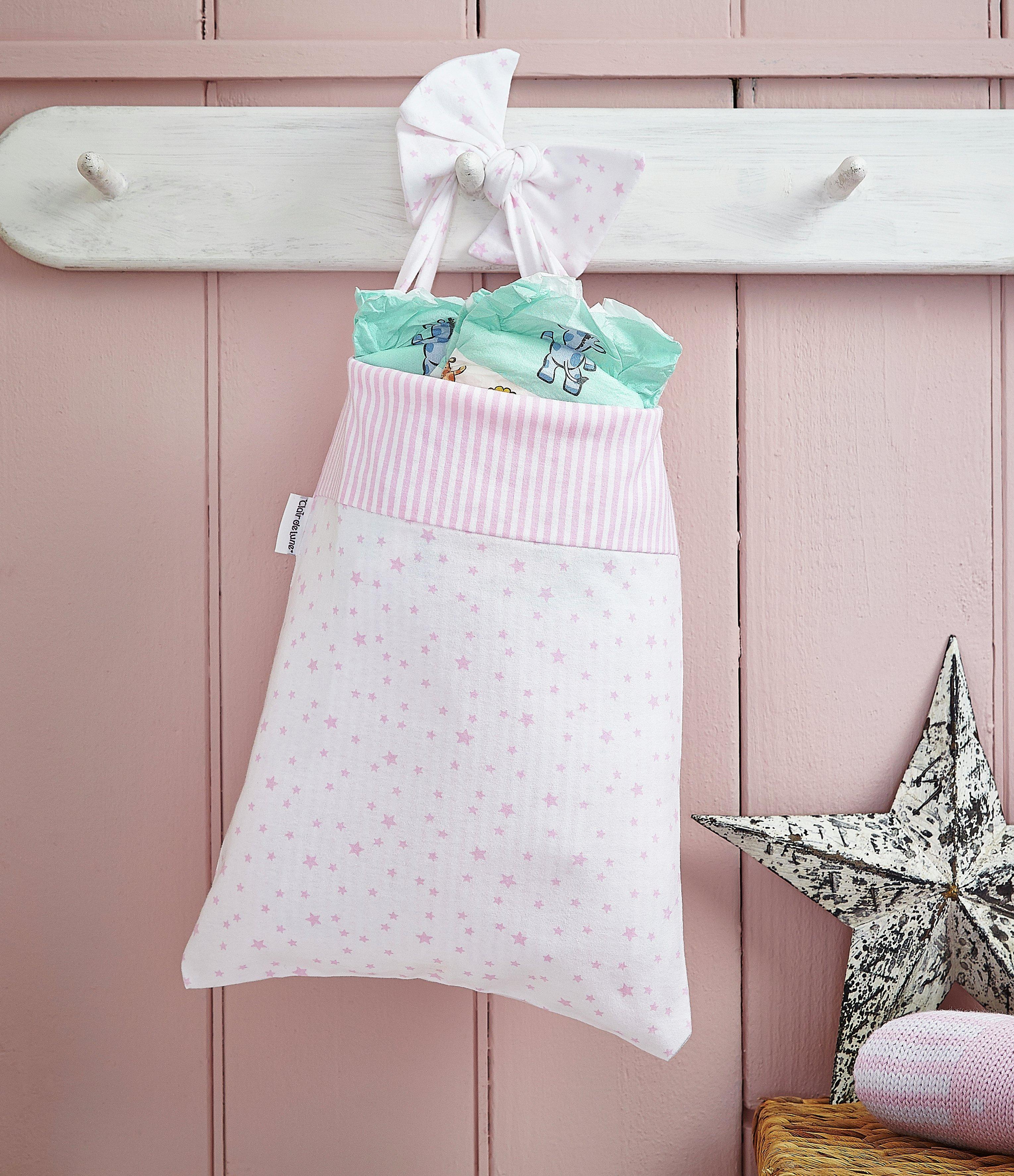 Clair De Lune Stars & Stripes Cot Pocket - Pink