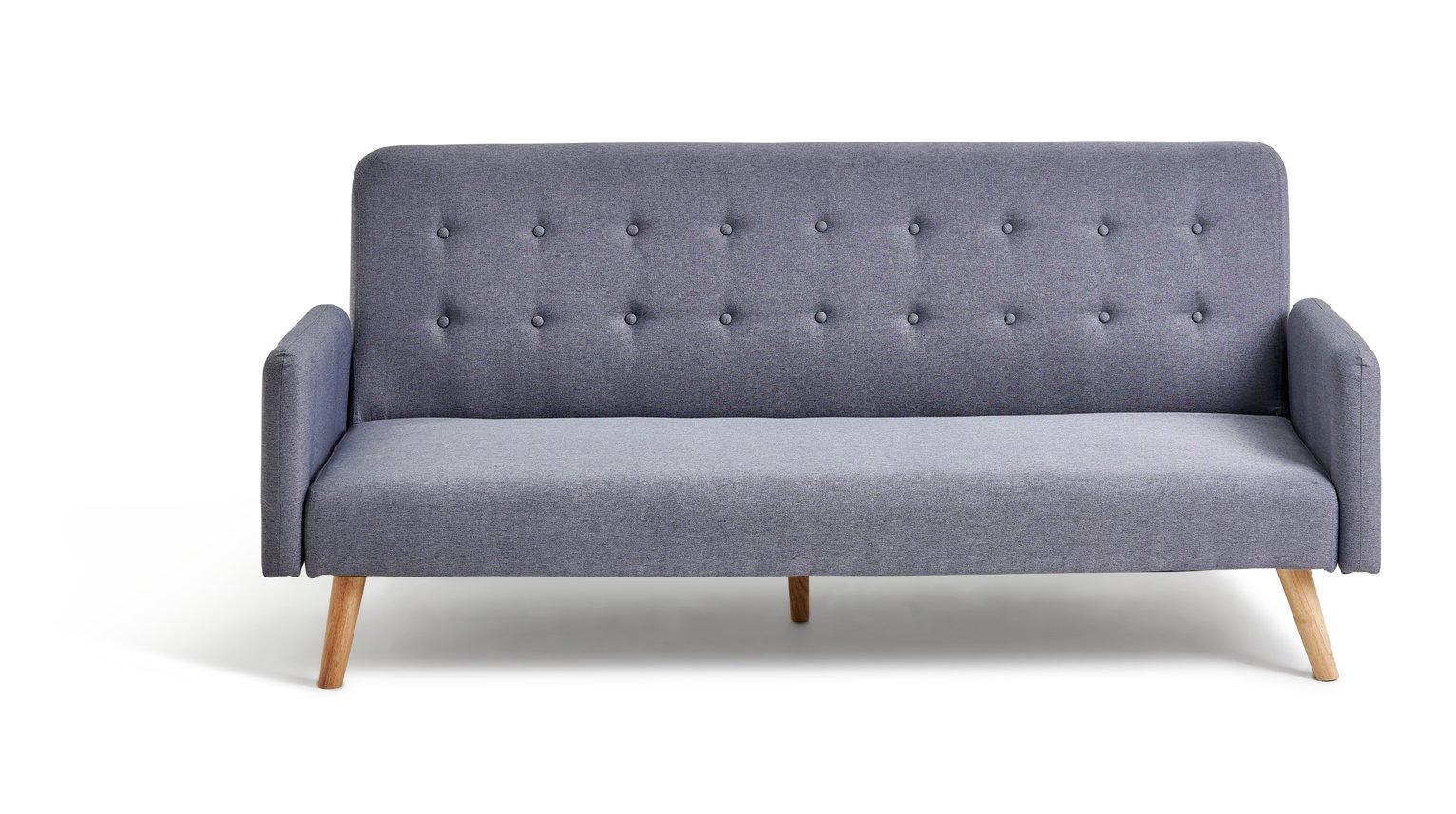 Argos Home Marseille Clic Clac Fabric Sofa Bed - Grey