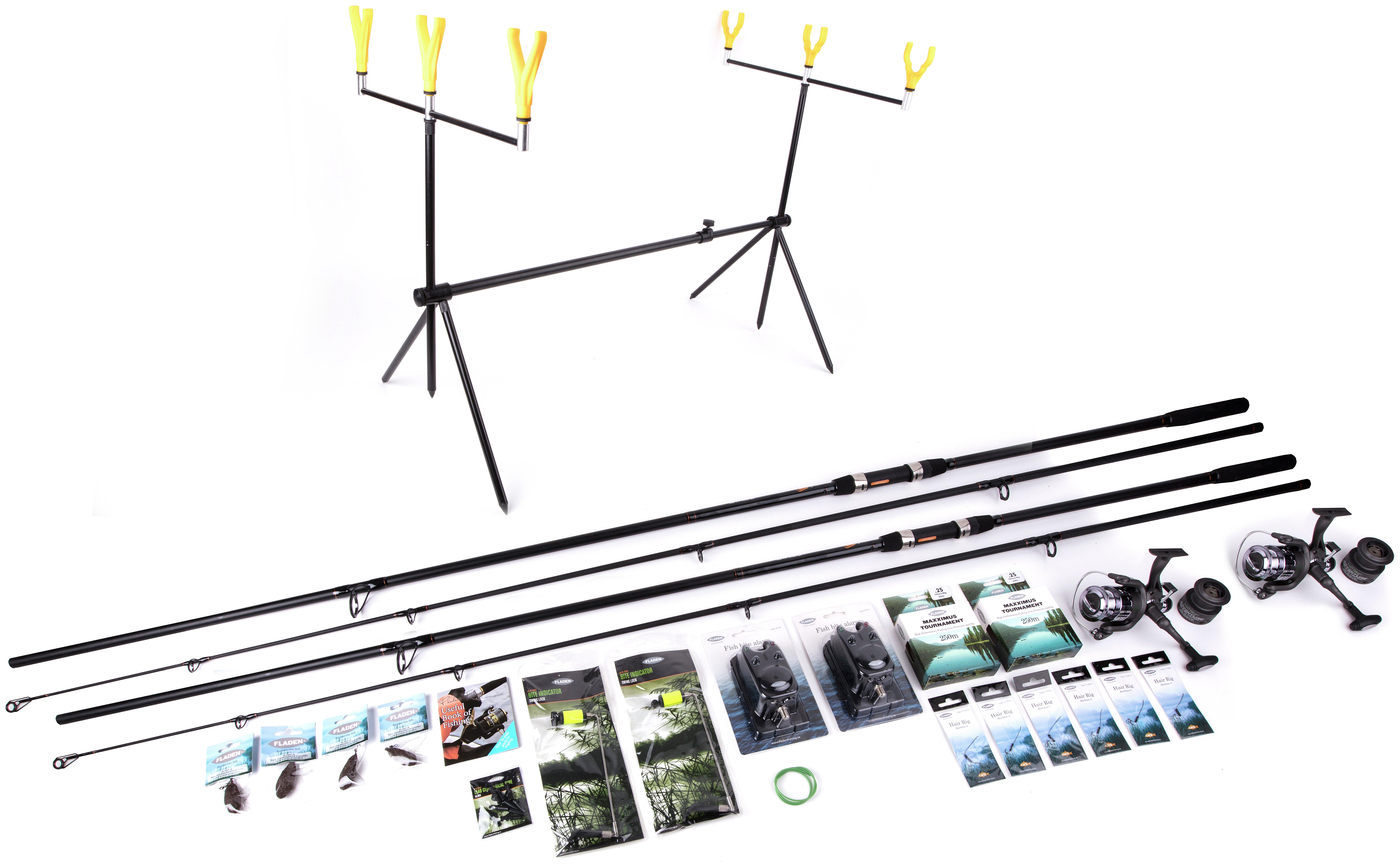 Fladen 12ft 2-Rod Deluxe Carp Fishing Set