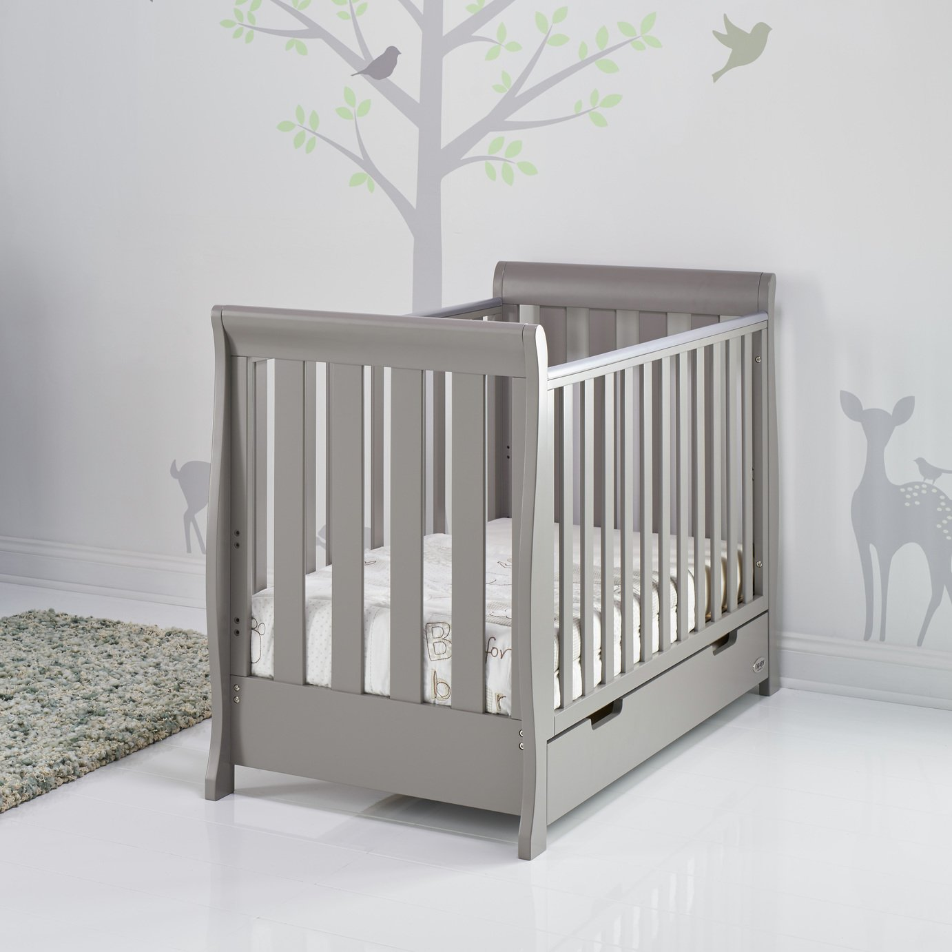 Obaby - Stamford Mini - Cot Bed - Taupe Grey