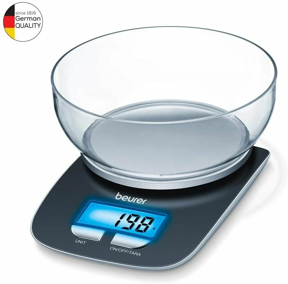 Beurer KS25 Electronic Kitchen Scale and Bowl