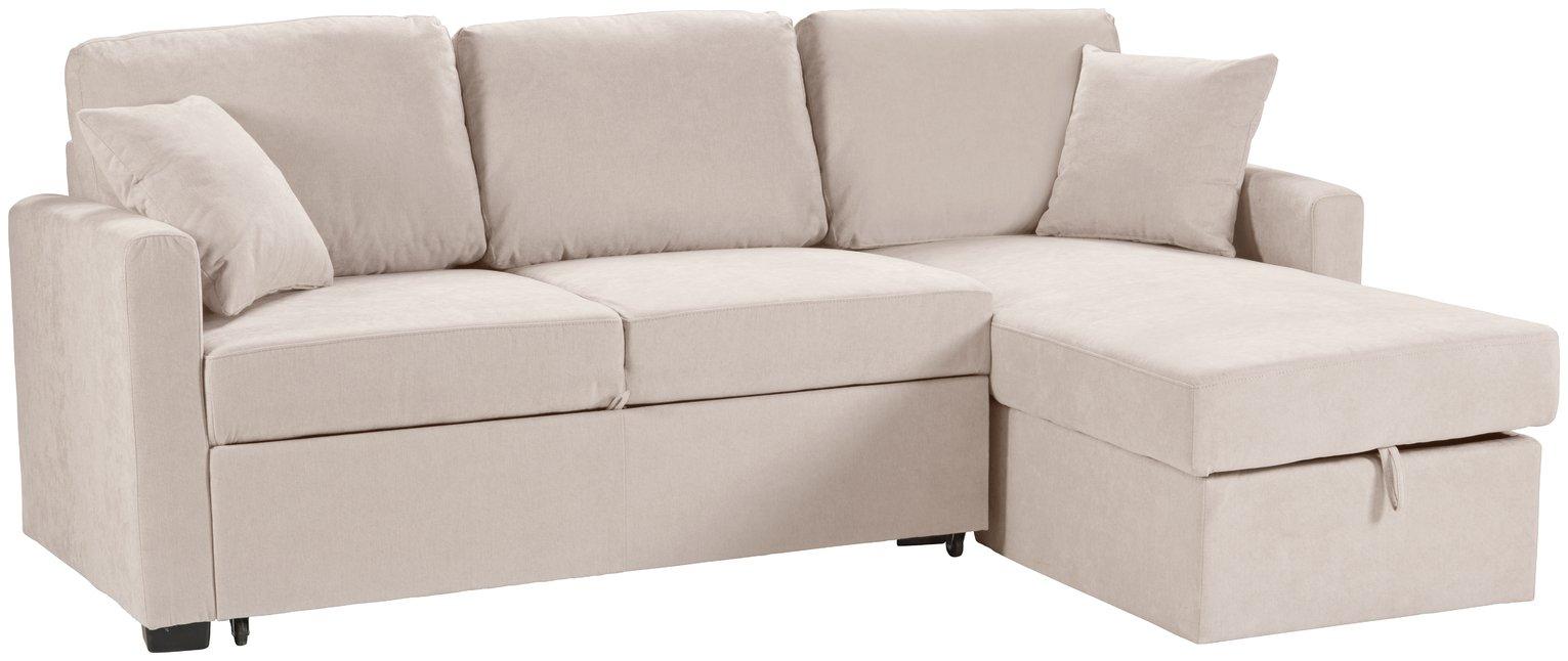 Jupiter Velvet Corner Sofa Mink Right Hand