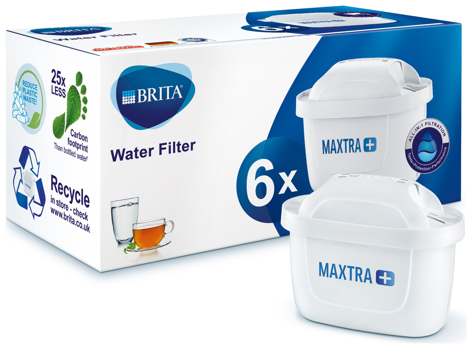 Brita Maxtra Plus Filter Cartridge - 6 Pack