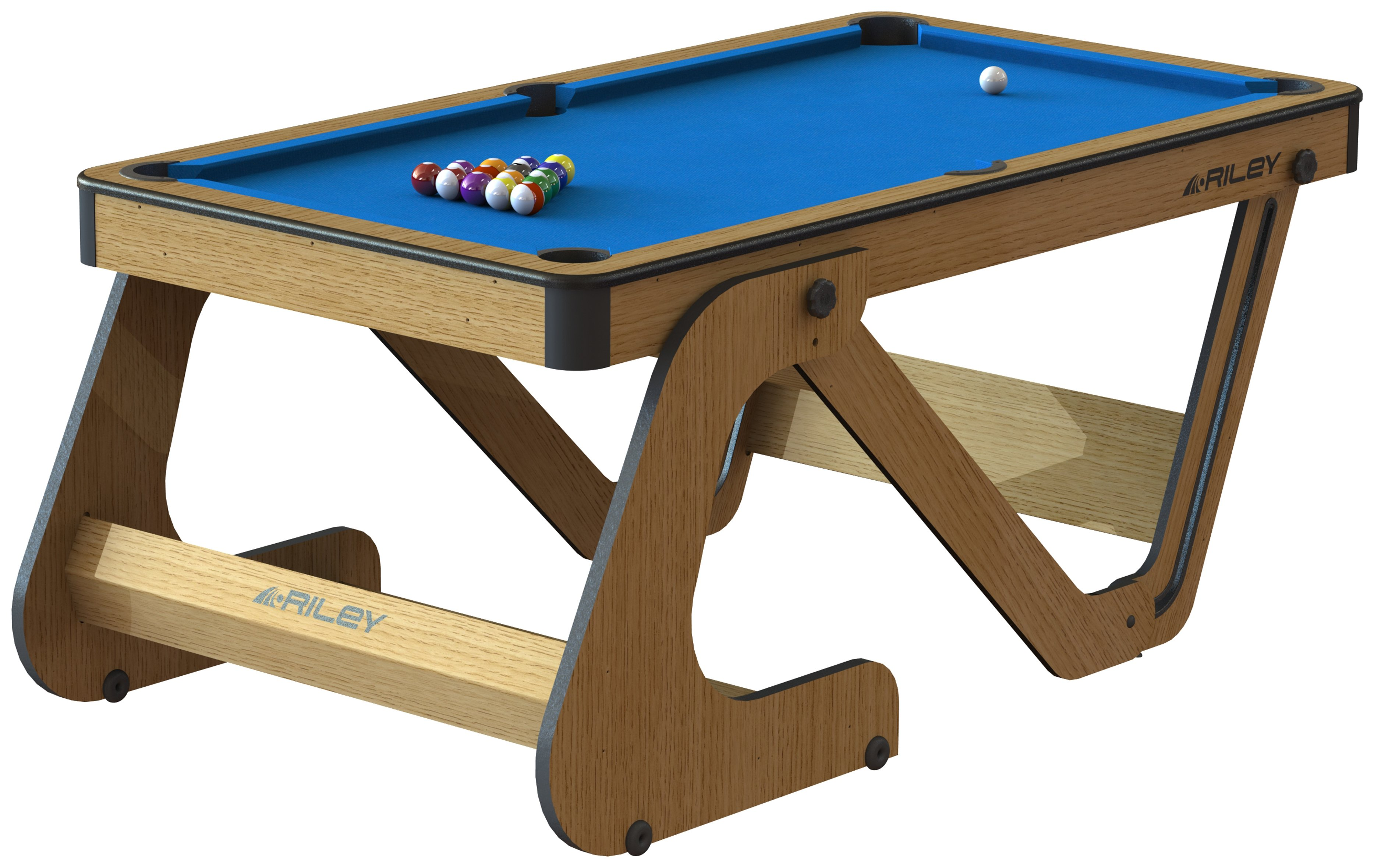 Riley 6ft Folding Pool Table with Dartboard