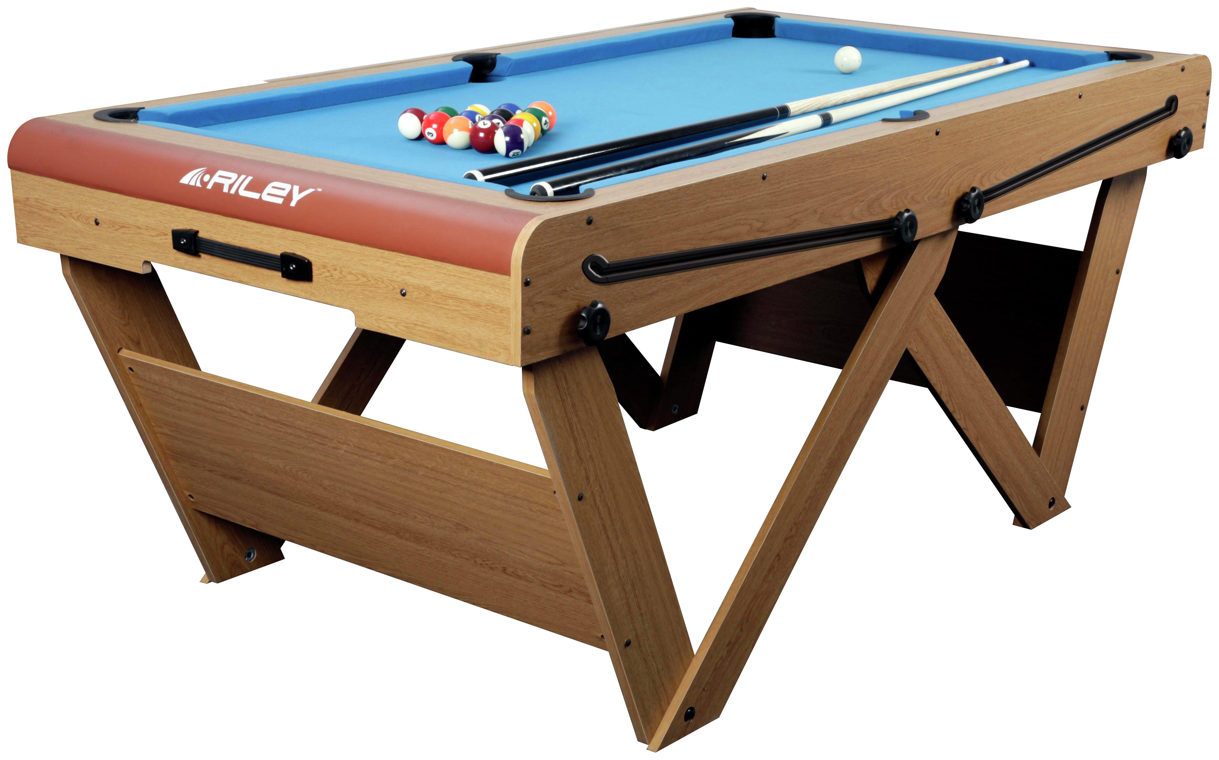Riley 6ft W Leg Snooker & Pool Table