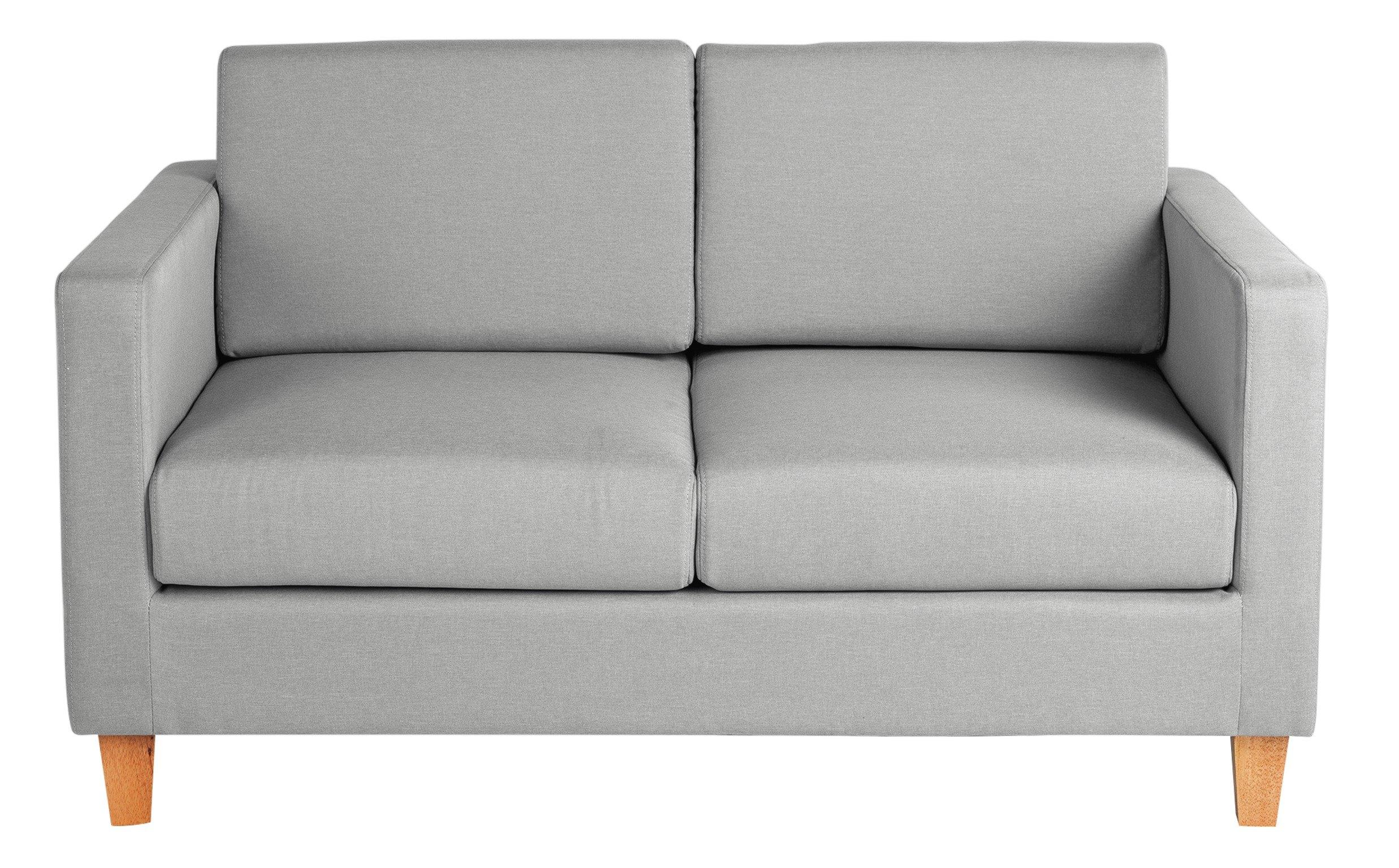 Argos Home Rosie 2 Seater Fabric Sofa - Light Grey