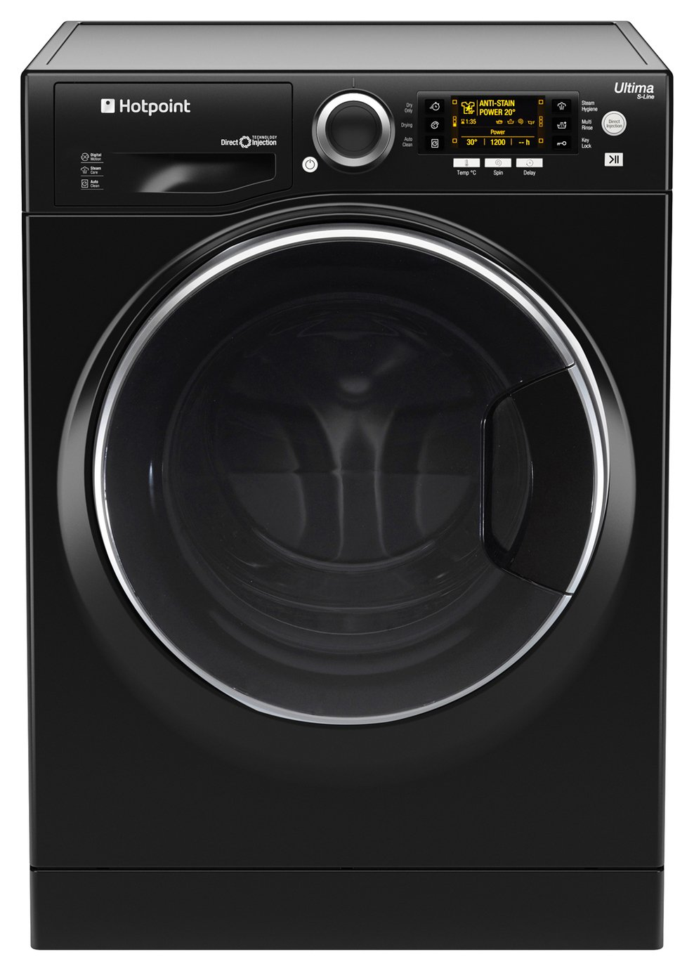 Hotpoint RD966JKD 9KG / 6KG 1600 Spin Washer Dryer - Black