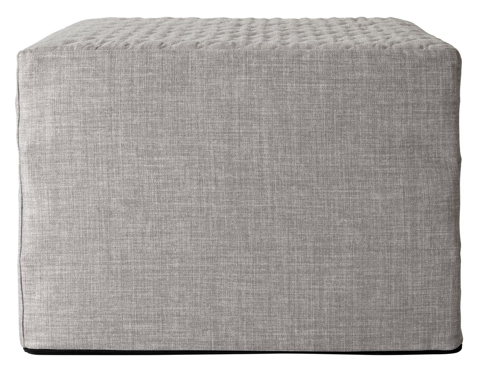 Argos Home Prim Fabric Single Ottoman Bed - Light Grey at Argos