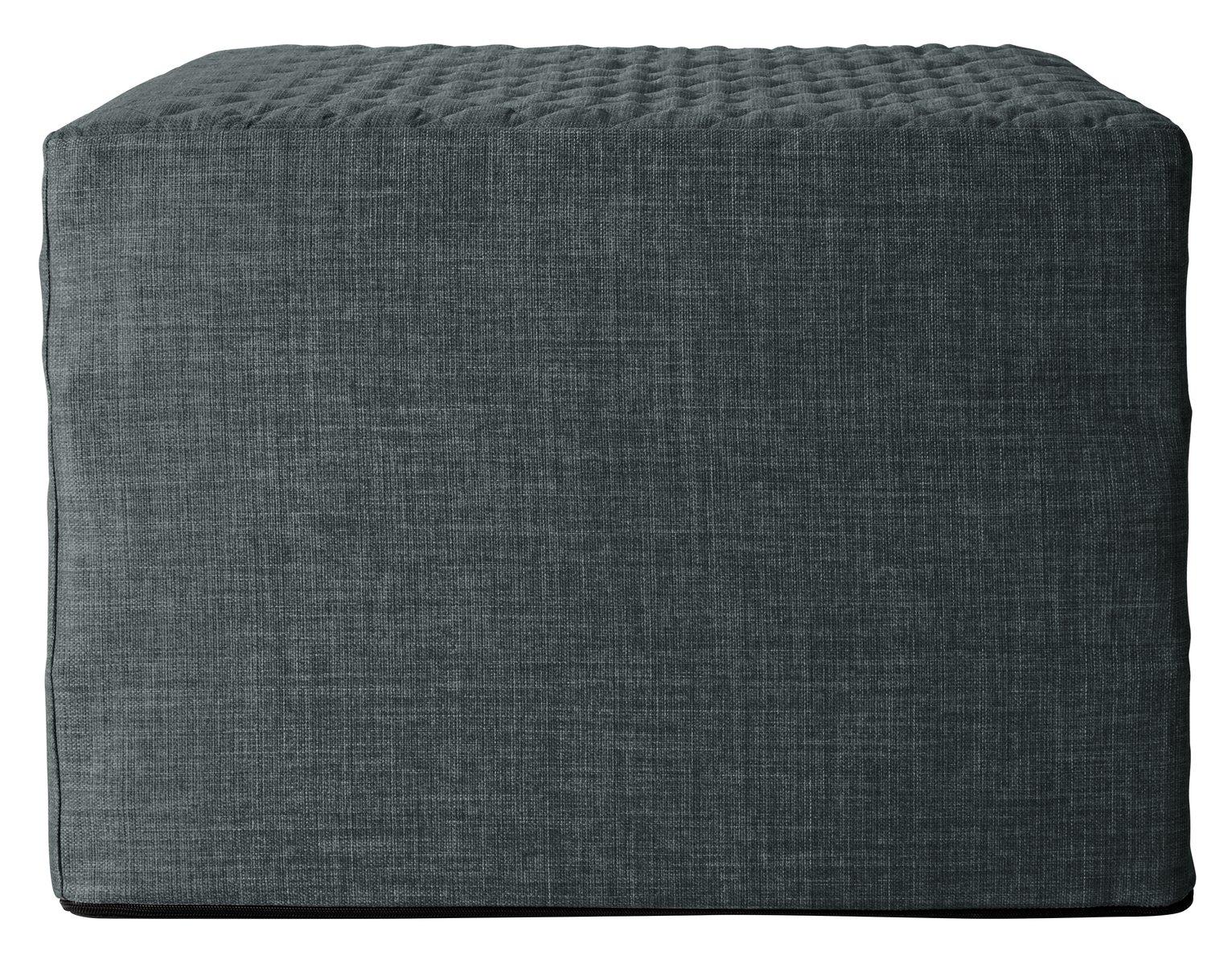 Argos Home Prim Fabric Single Ottoman Bed - Charcoal at Argos