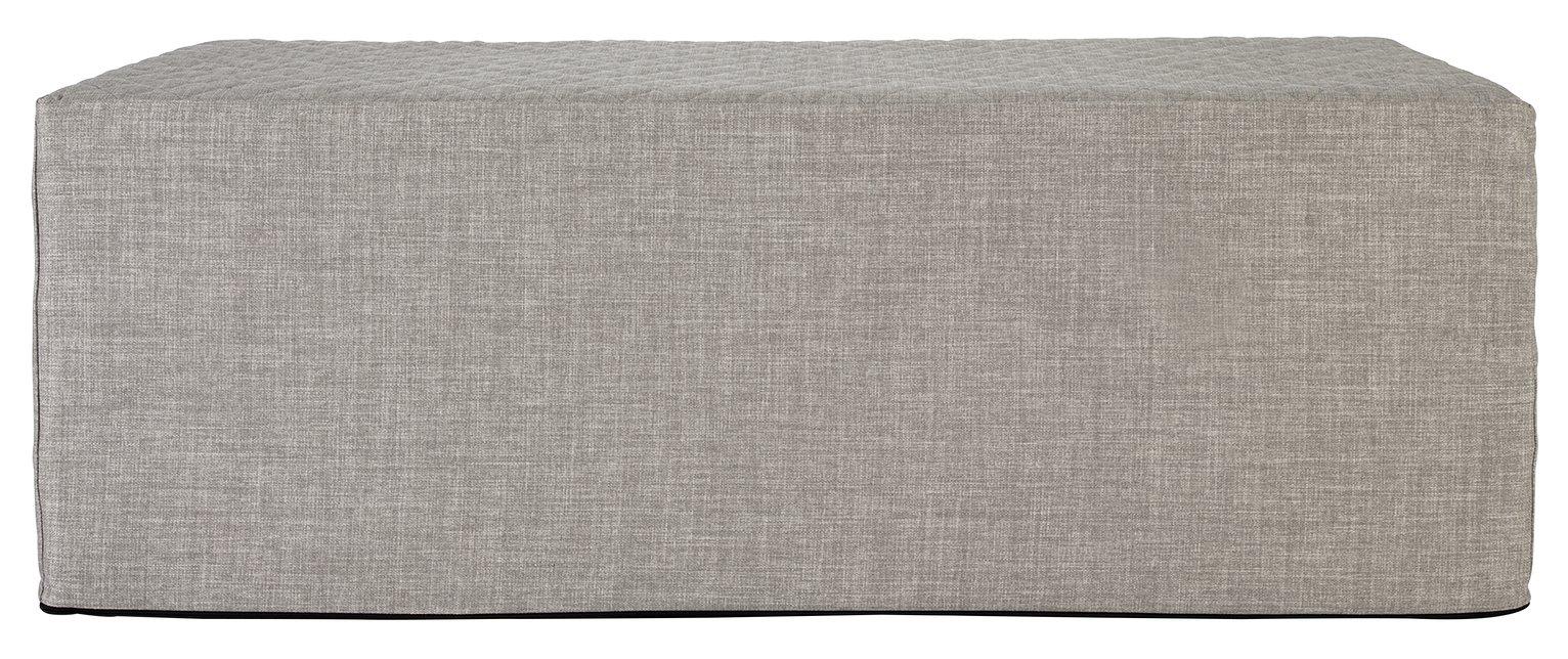 Argos Home Prim Fabric Double Ottoman Bed - Light Grey at Argos