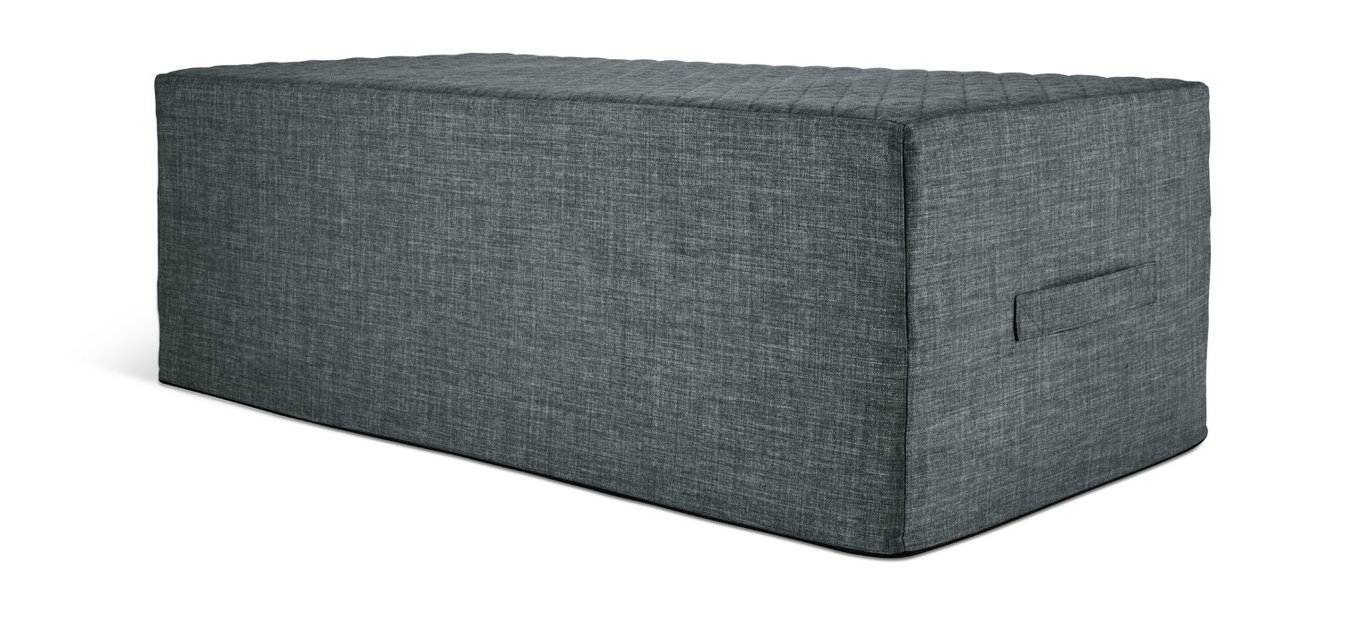 Argos Home Prim Fabric Double Ottoman Bed - Charcoal at Argos