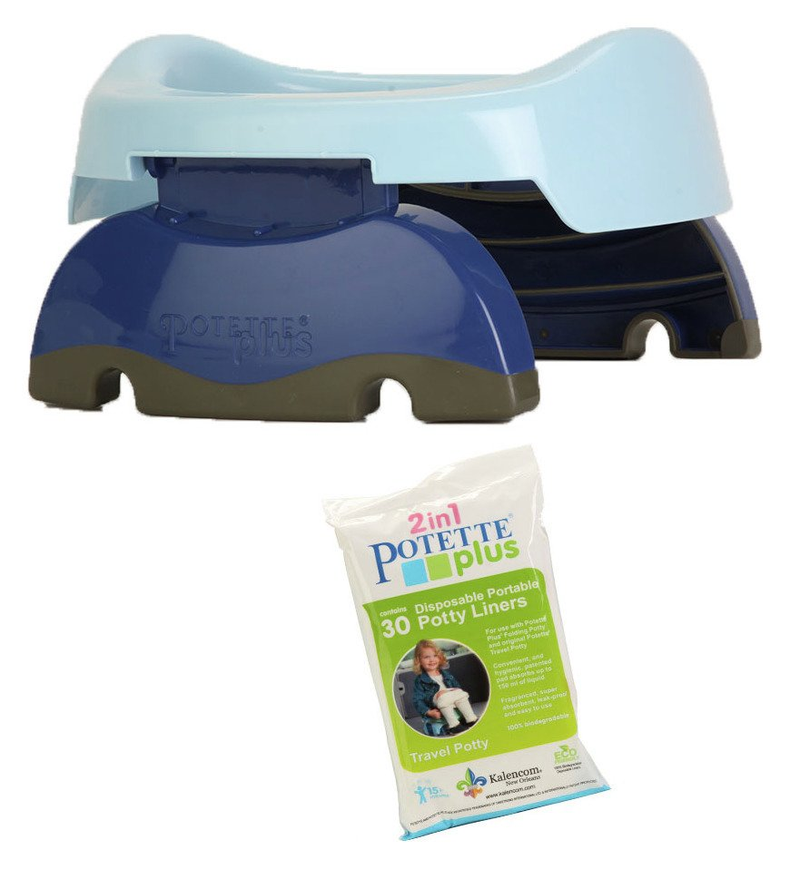 Potette and 30 Liners Pack - Blue & Navy
