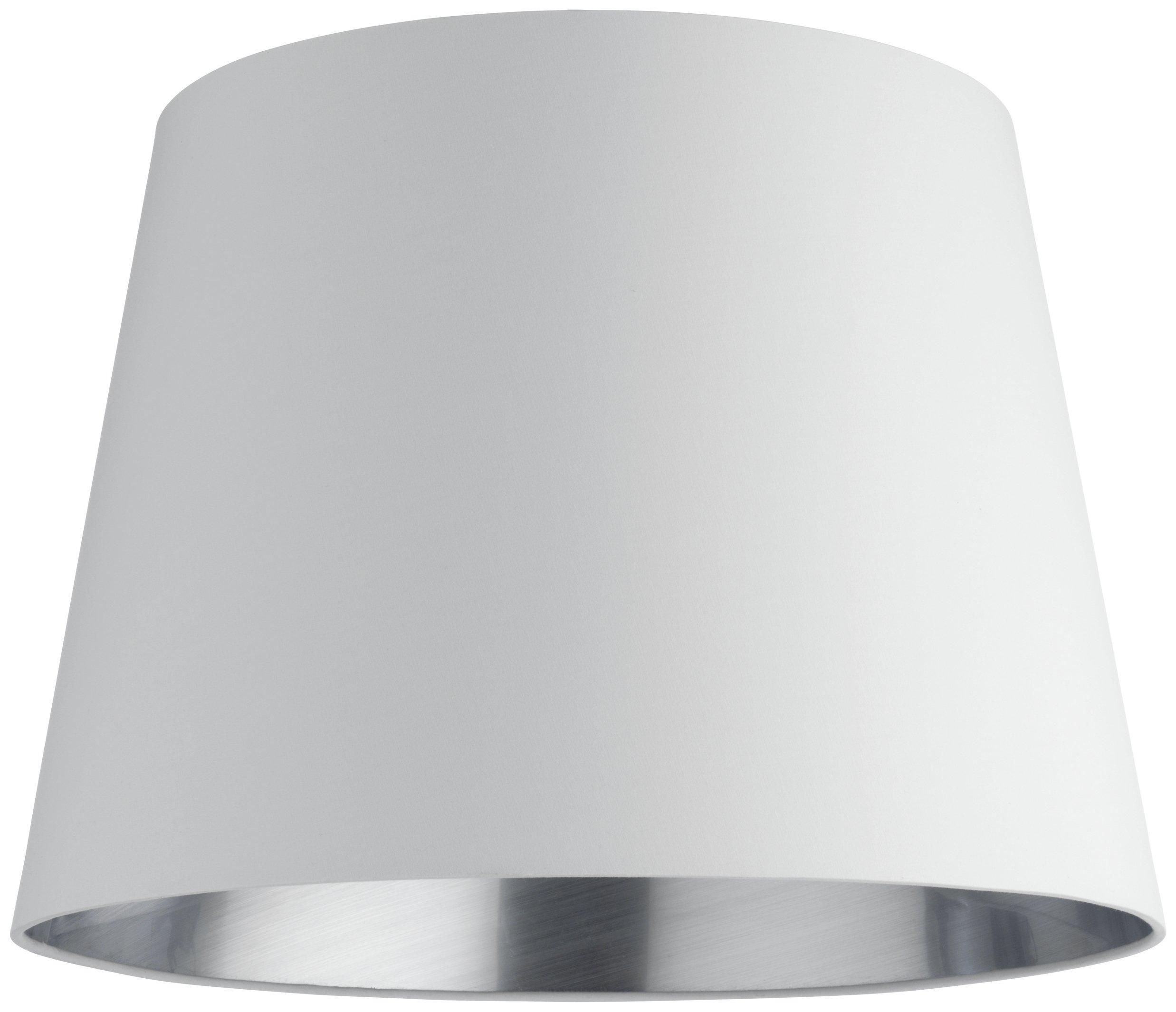 Habitat Grande Large Tapered Fabric Lampshade - Platinum