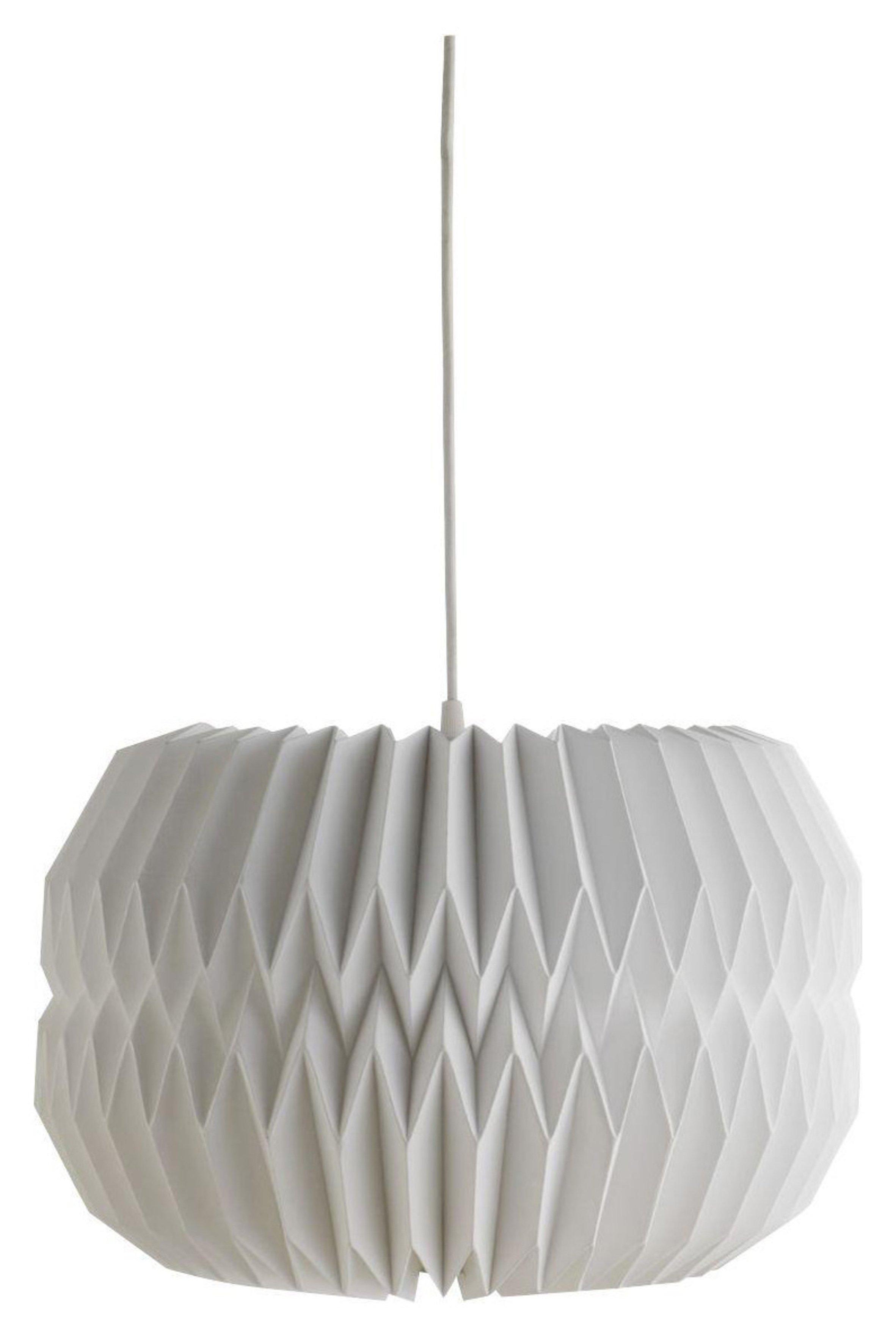 Habitat Kura Origami Paper Drum Shade - White