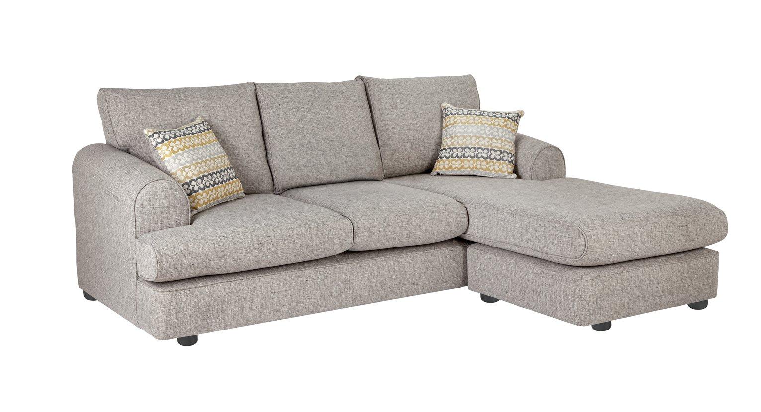 Argos Home Atticus Right Corner Fabric Sofa - Grey