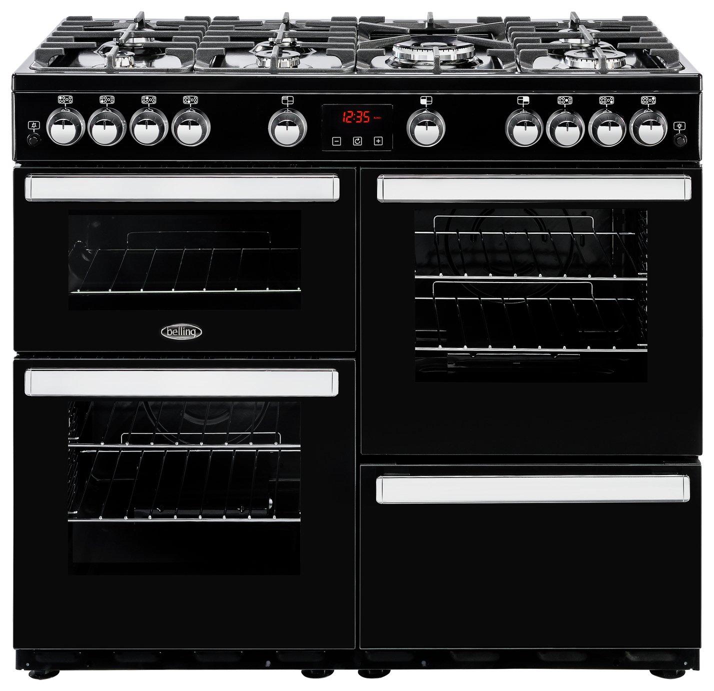 Belling Cookcentre 100G Gas Range Cooker - Black