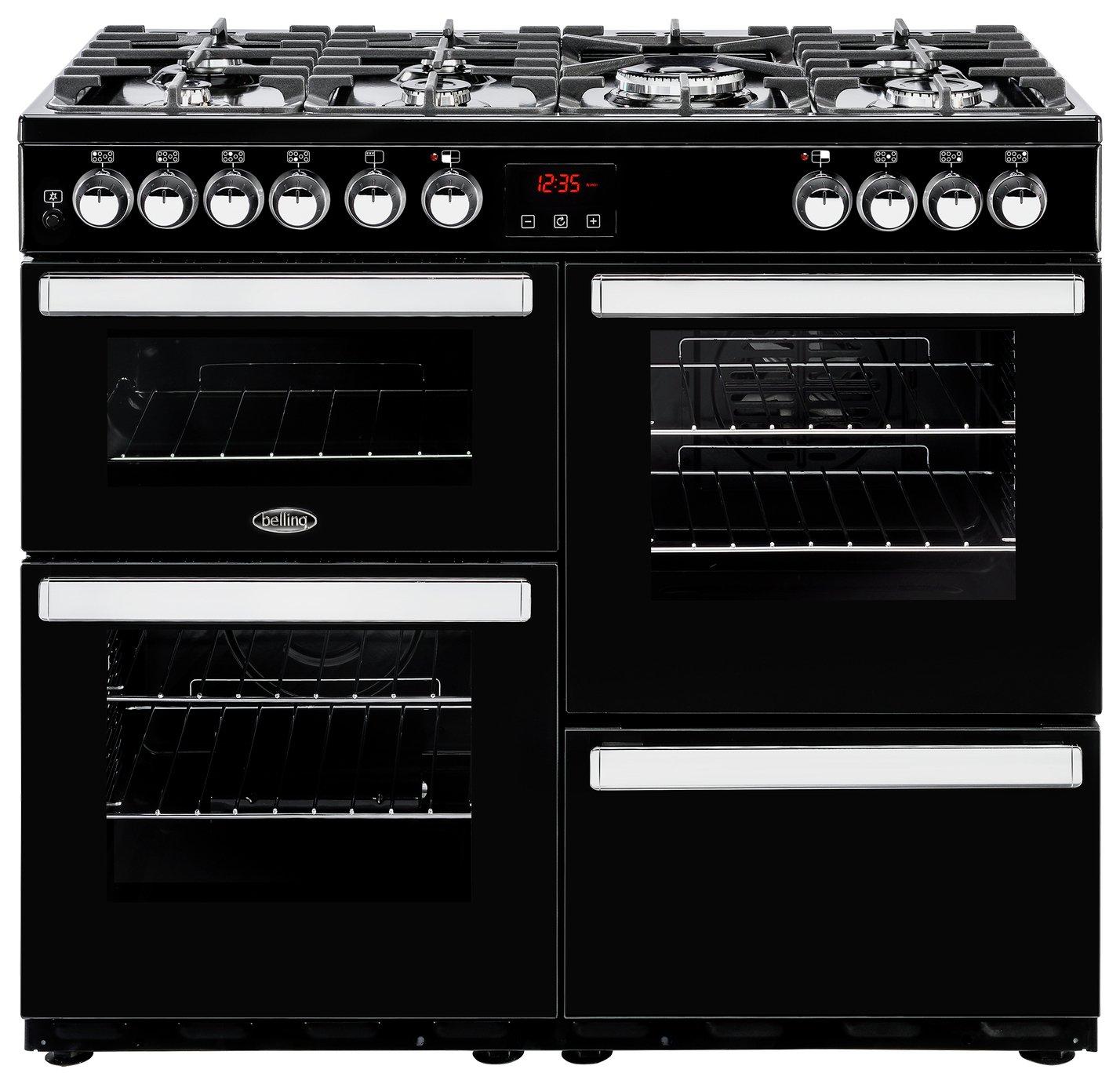 Belling Cookcentre 100DFT Duel Fuel Range Cooker - Black