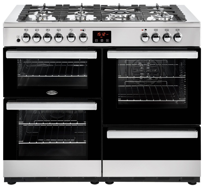 Belling Cookcentre 110DFT Duel Fuel Range Cooker - S/ Steel