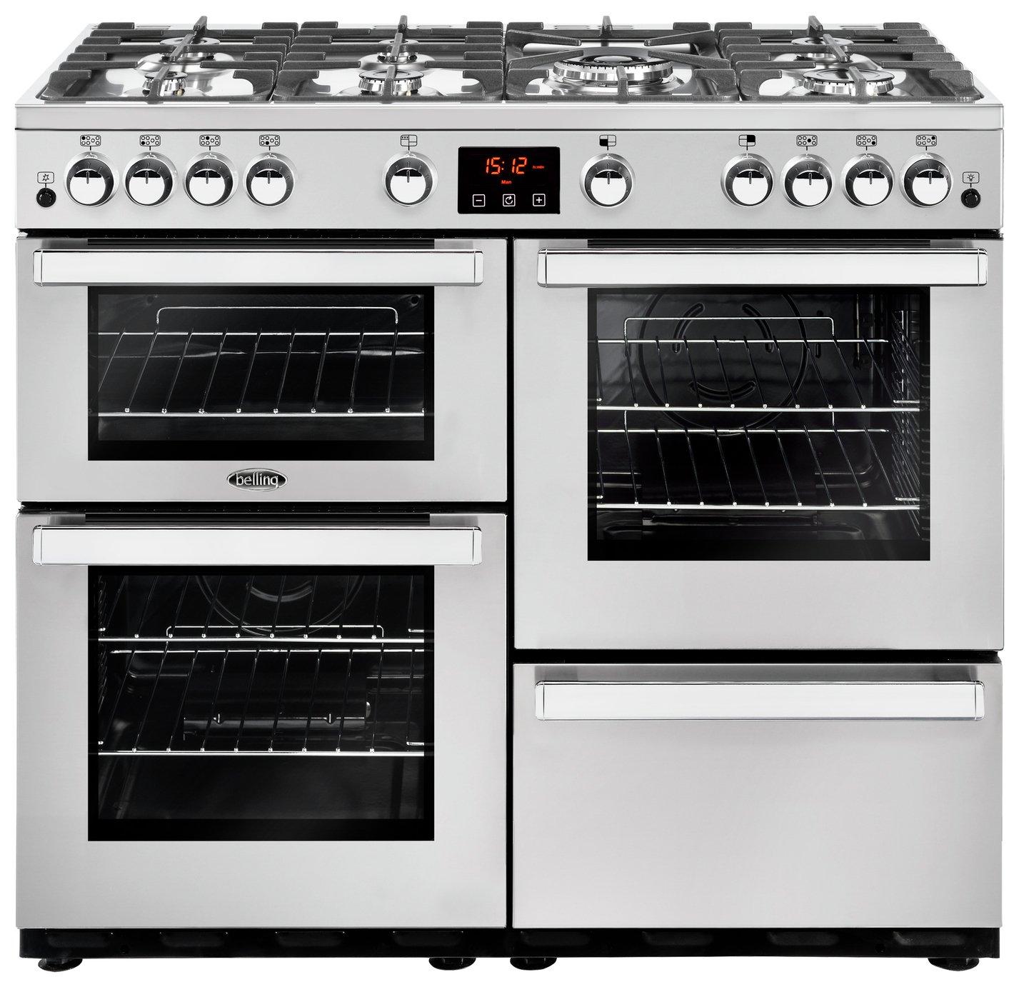 Belling Cookcentre 100G Prof Gas Range Cooker - S/ Steel