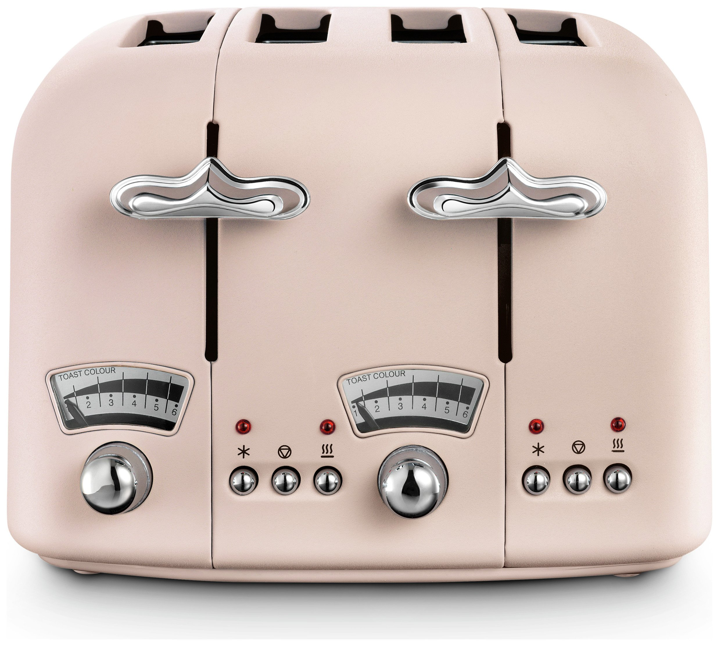 De'Longhi CTO4 Argento Flora 4 Slice Toaster - Rose