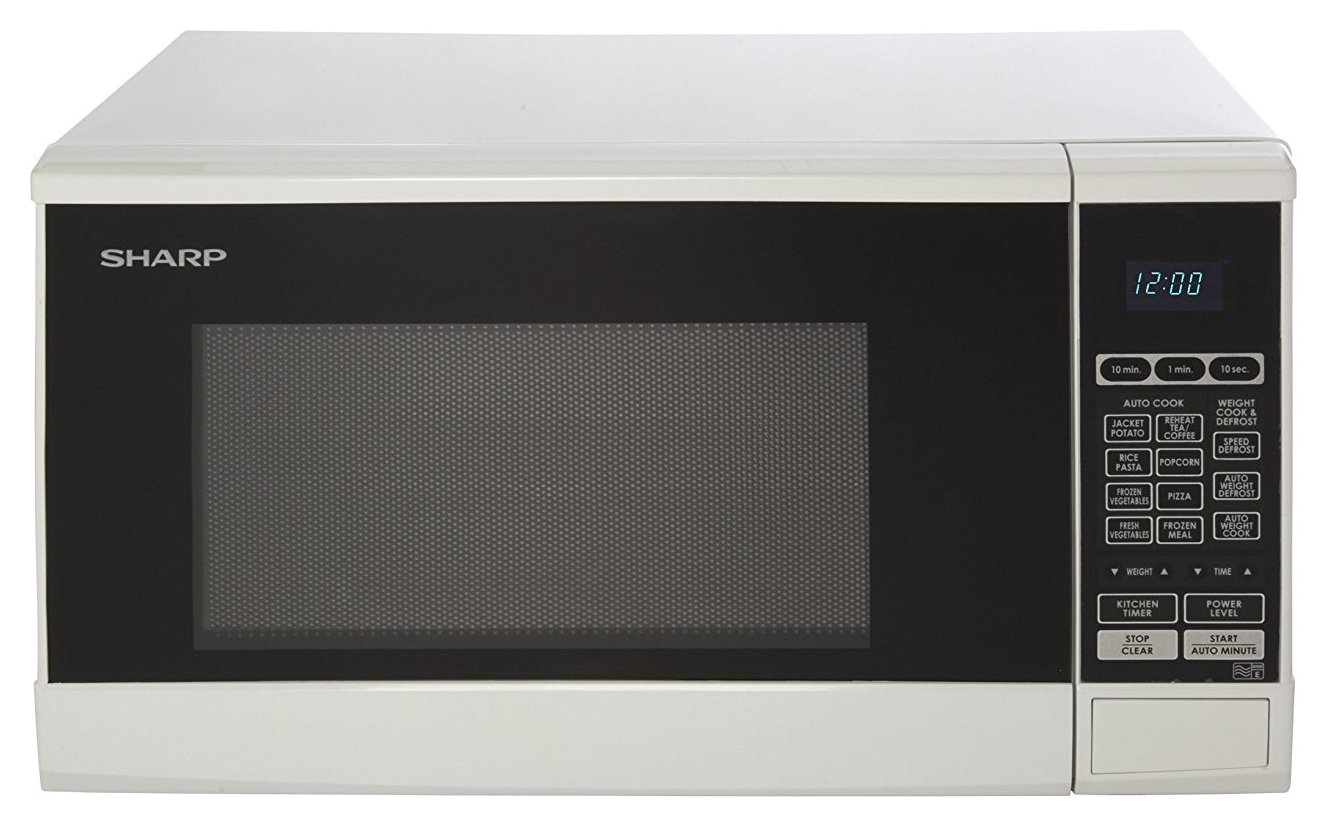 Sharp 800W Standard Touch Microwave - White