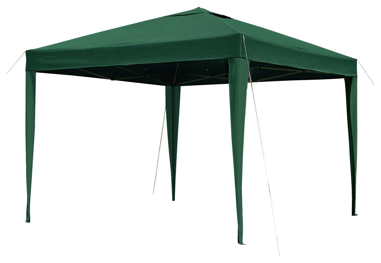 Argos Home 3m x 3m Pop up Garden Gazebo - Green