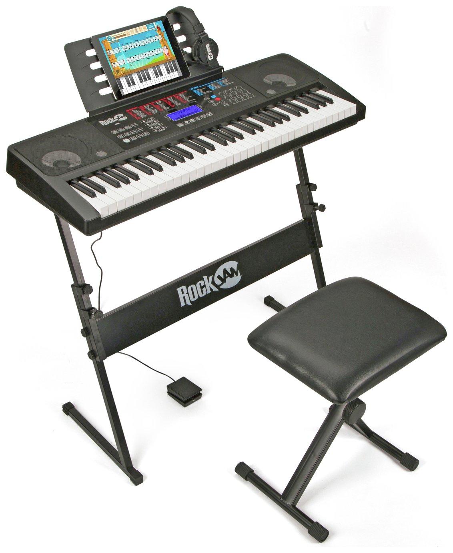 RockJam 761 Electronic Keyboard - Black