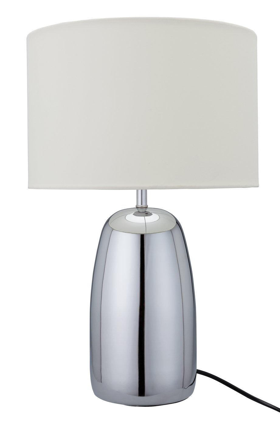 Argos Home Largo Chrome Touch Table Lamp - Cream