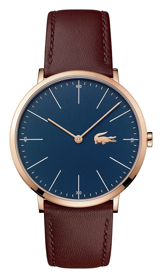 Lacoste Classic Men's Brown Leather Strap Watch