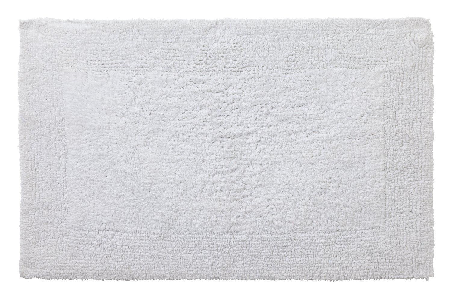 Argos Home Reversible Bath Mat - White