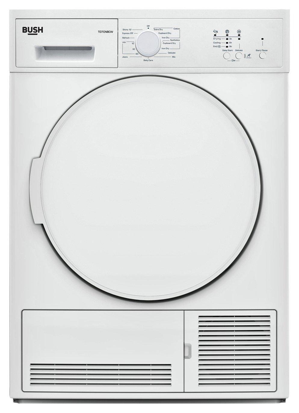 Bush TD7CNBCW White 7KG Condenser Tumble Dryer