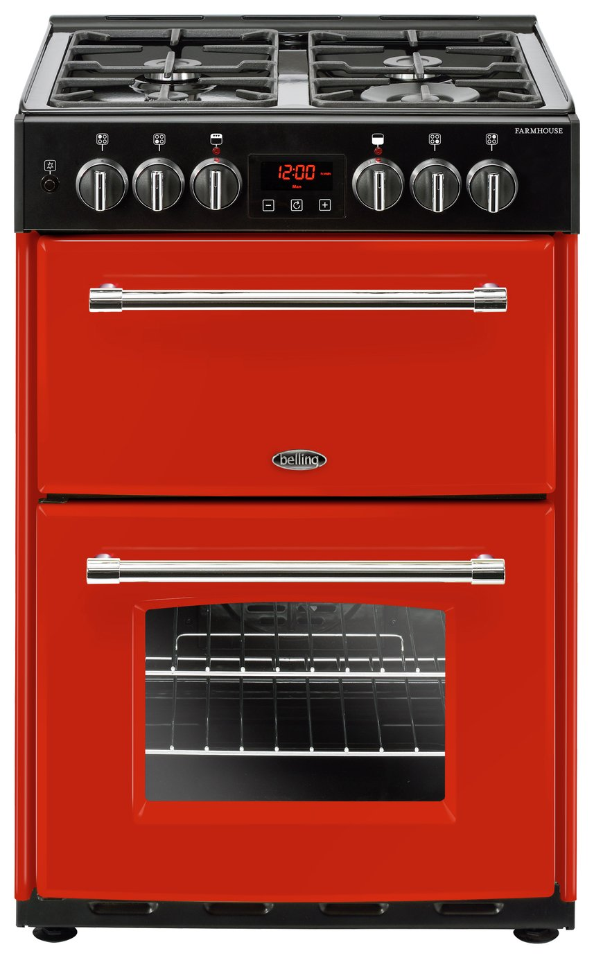 Belling Farmhouse 60DF Dual Fuel Cooker - Red