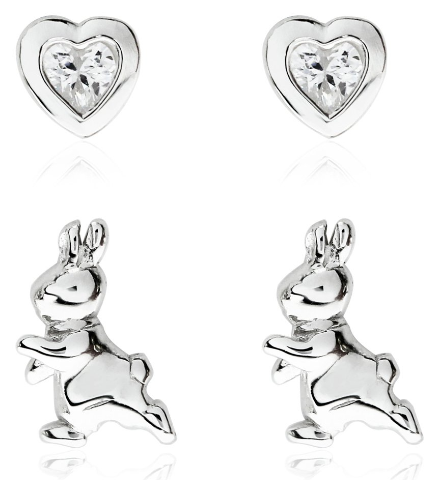 Beatrix Potter Sterling Silver Peter Rabbit Studs - Set of 2