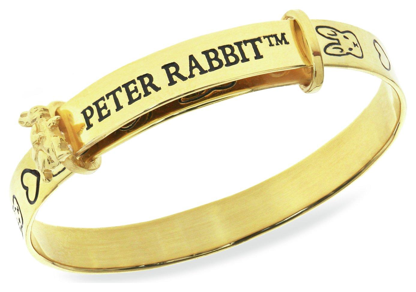 Beatrix Potter Gold Plated Peter Rabbit Expander Bangle