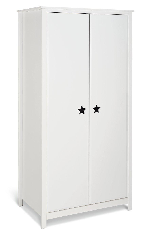 Argos Home Stars White 2 Door Wardrobe