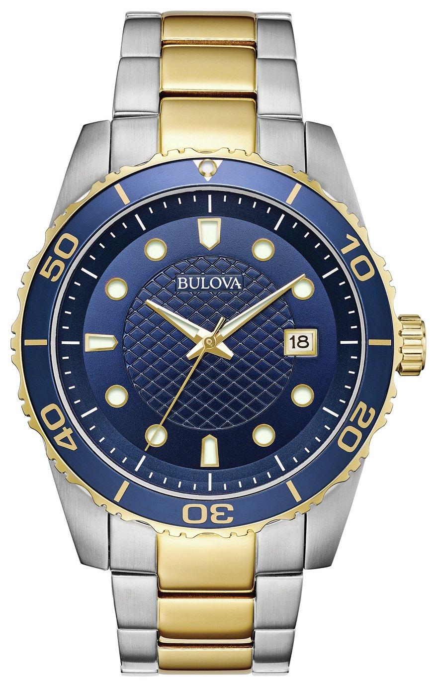 Bulova Men's Two Tone Stainless Steel Bracelet Watch