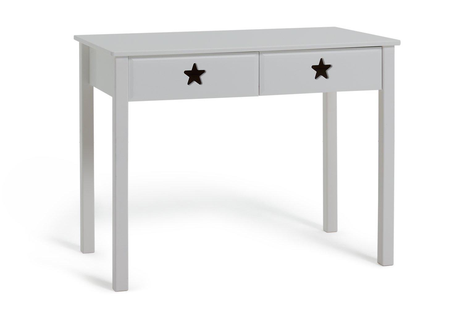 Argos Home Stars White 2 Drawer Desk