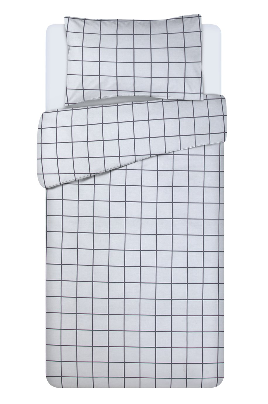 Argos Home Newstalgia Grid Bedding Set - Single