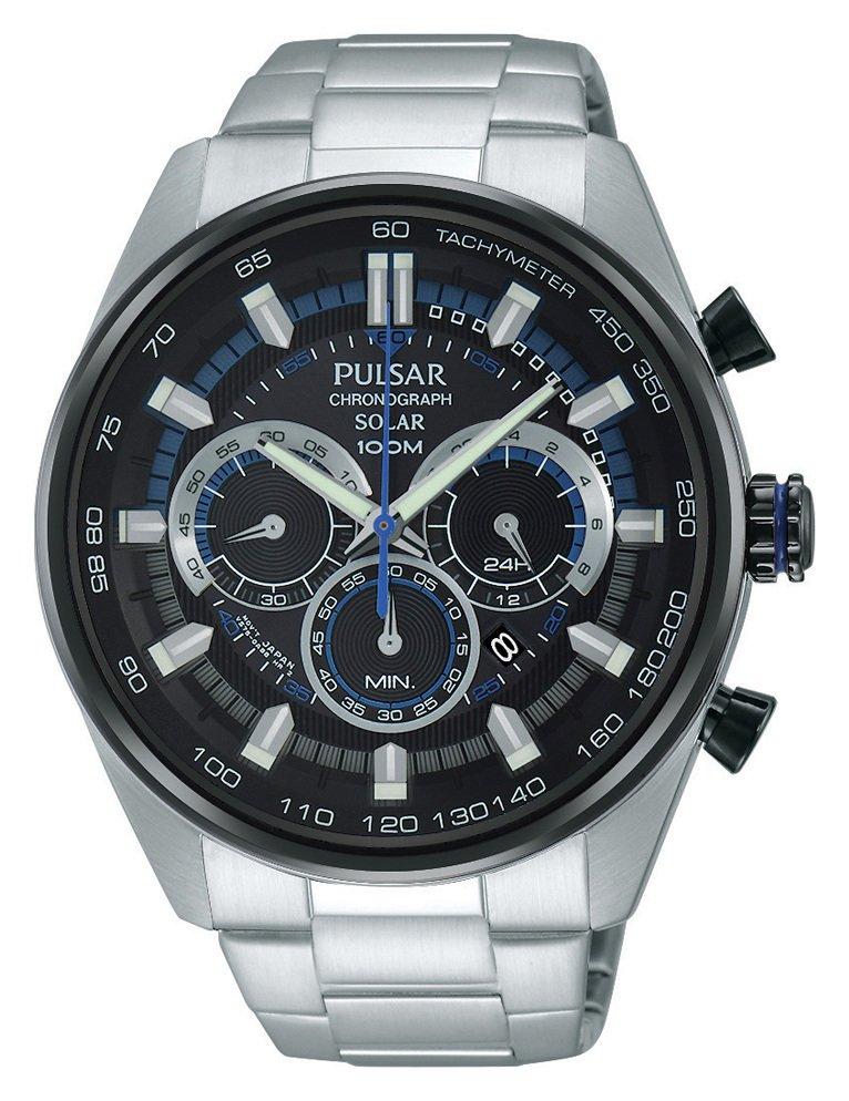 Pulsar Accelerator Men's Silver Stainless Steel Solar Watch