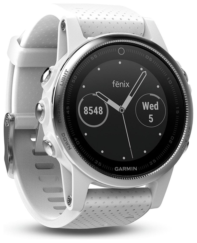 Garmin Fenix 5S Multisport GPS Smart Watch - White