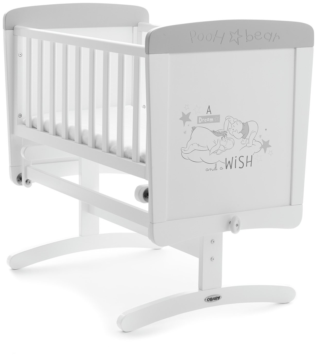Disney Winnie The Pooh Crib & Mattress - Dreams & Wishes