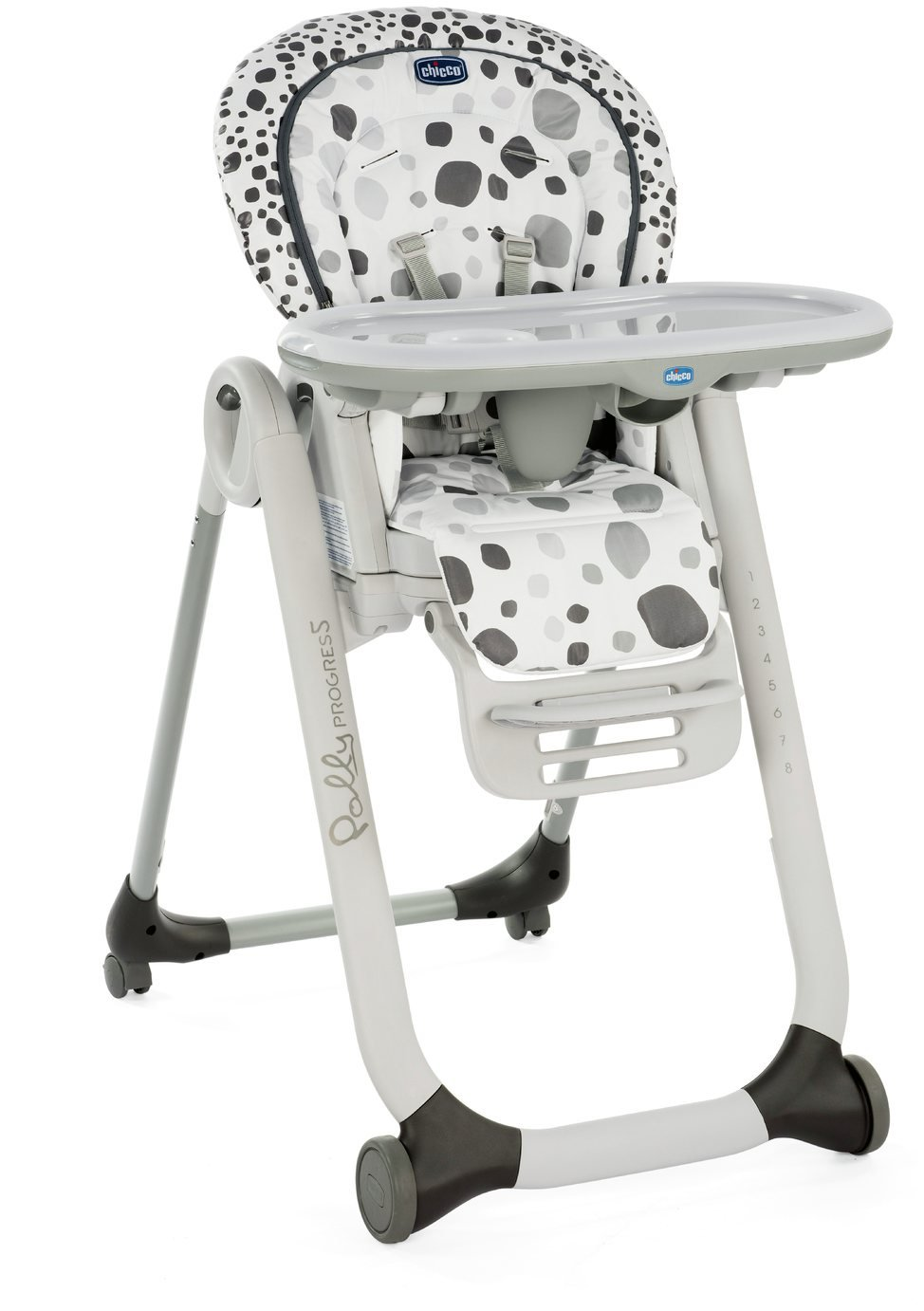 Chicco Polly Progress 4 Wheel Highchair - Anthracite