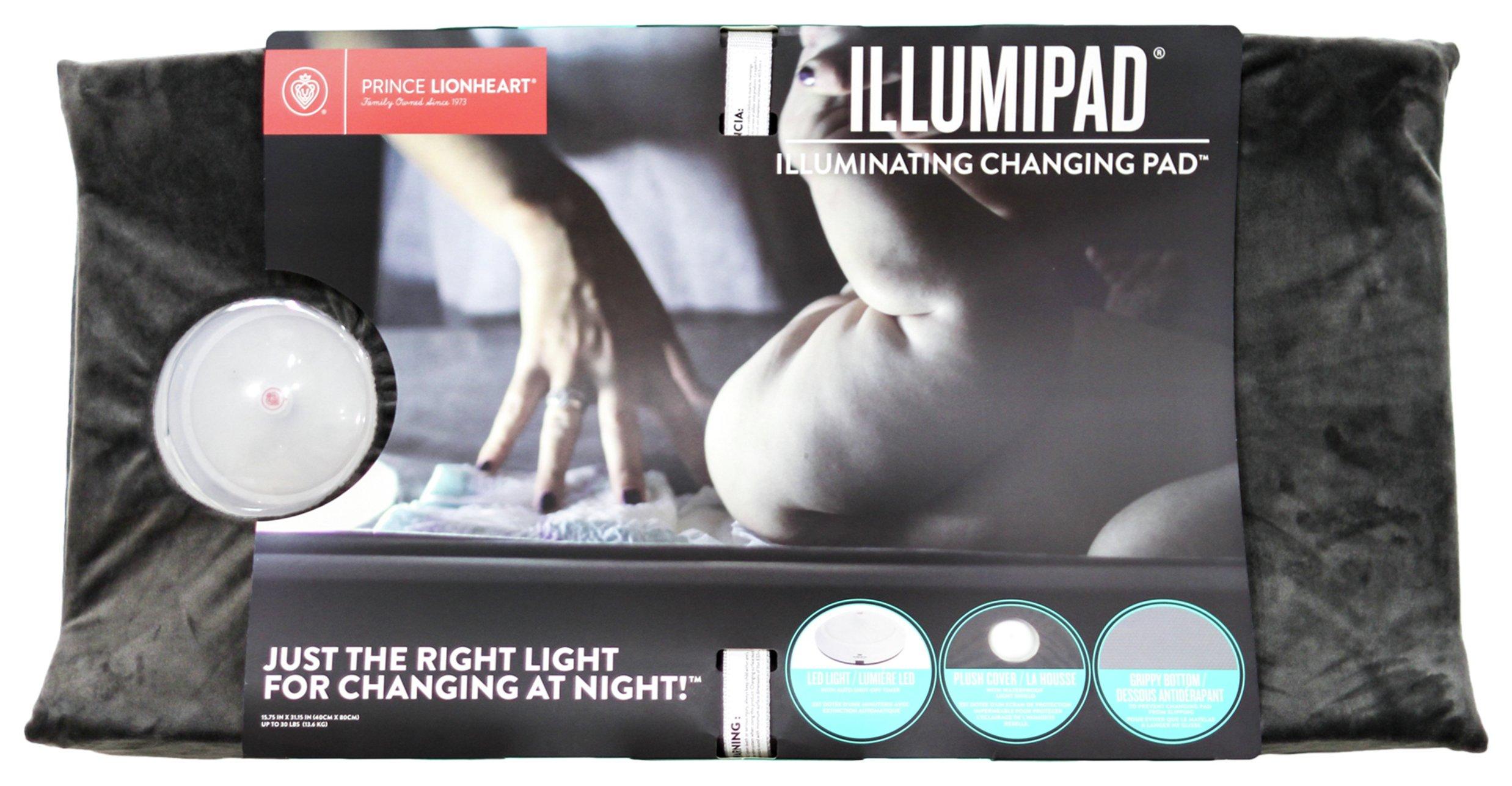 Prince Lionheart Illumipad Changing Pad Cover - Grey