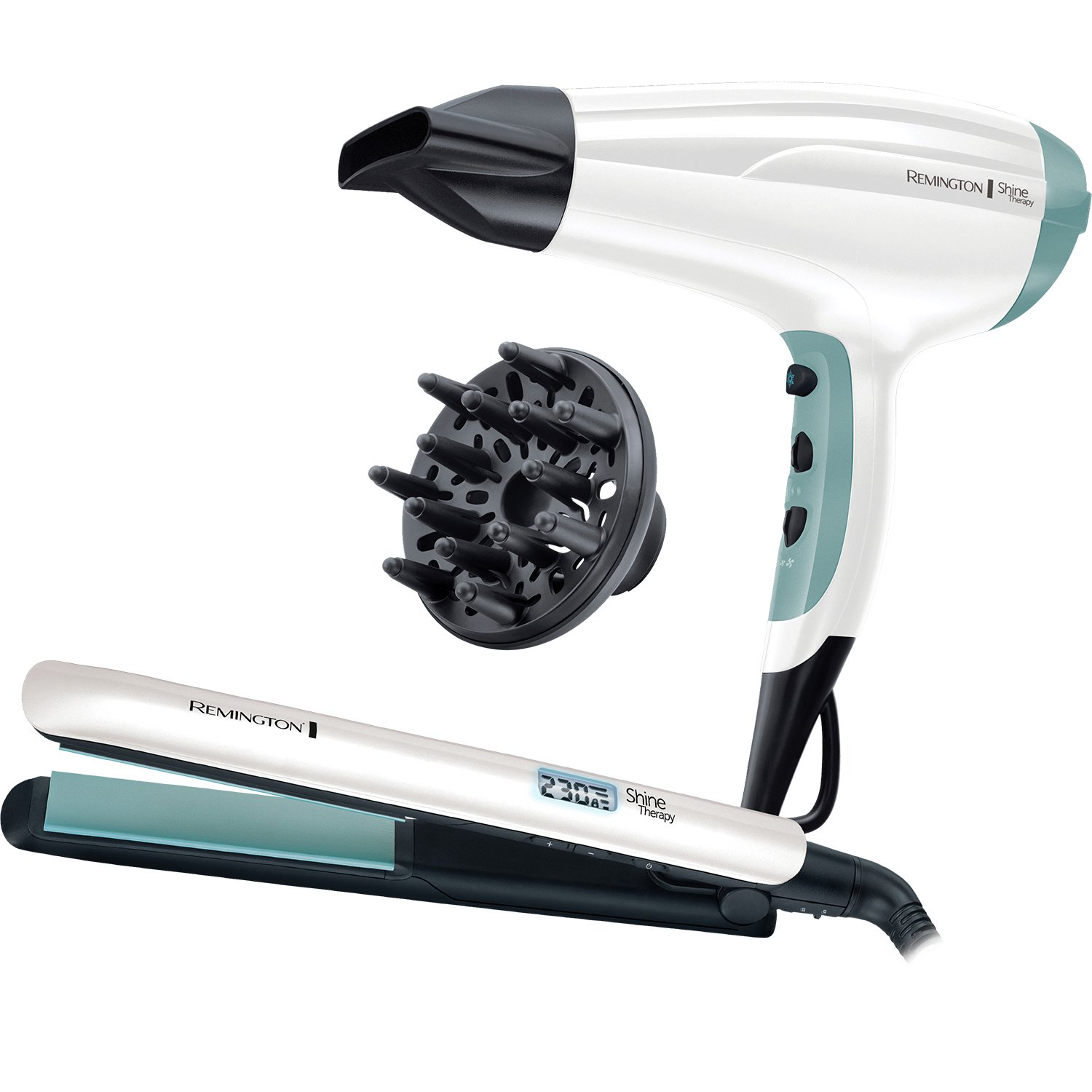 Remington Hair Straightener and Dryer Shine Therapy Gift Set