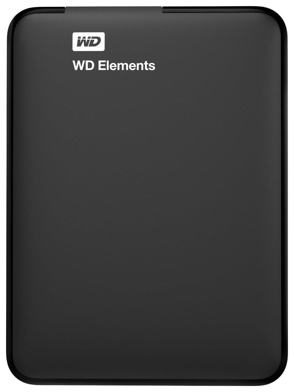 WD Elements 1TB Portable Hard Drive - Black
